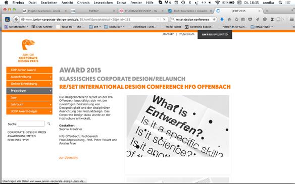 Junior Corporate Design Award für Sophia Hirths Grafik-Design