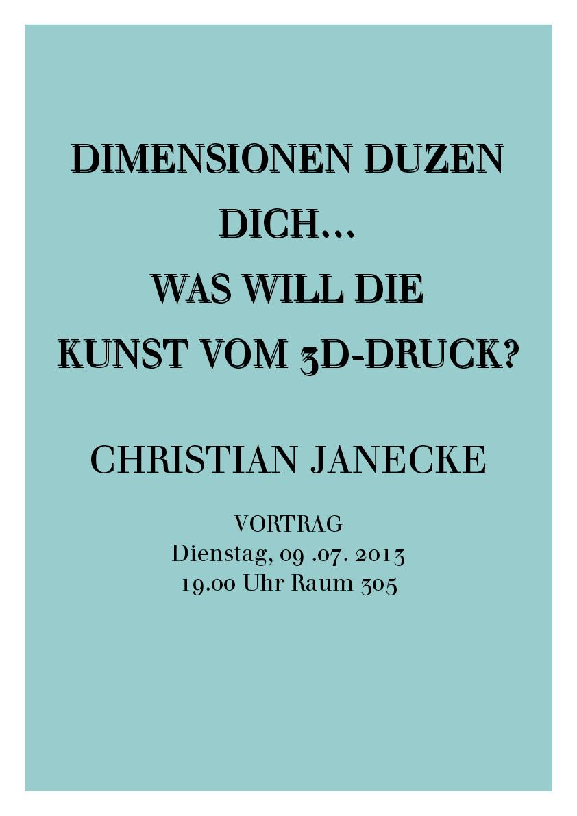 plakat christian Janecke