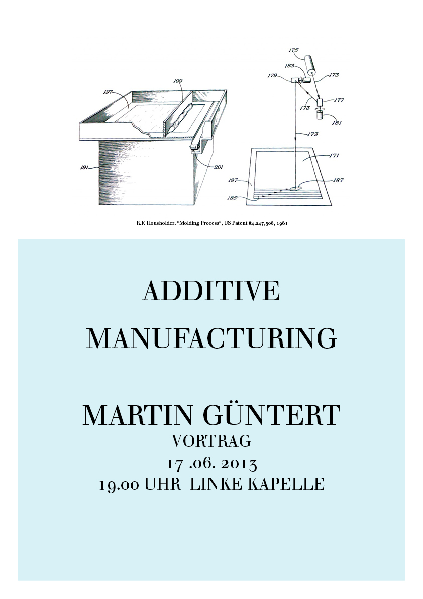 Lecture Series and Seminar on 3D-printing together with Prof. Dr. Martin Gessmann.